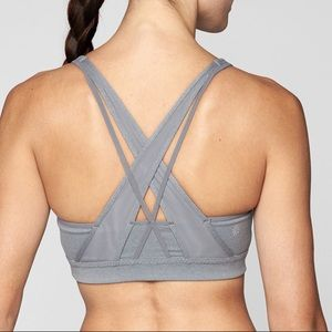 NEW Athleta Transcendence Bra Medium Gray
